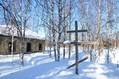 Památník - kříž od chrámu v Nadymu